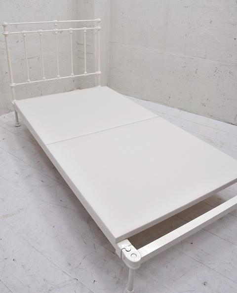 PWB-4 アイアンシングルベッド ホワイト(※マットレス別売)